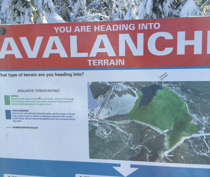 avalanche terrain exposure scale sign