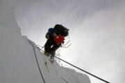 Rappelling Into Crevasse: Crevasse Rescue Course, Whistler, BC