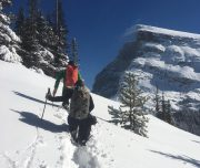 Winter hiking and snowshoeing