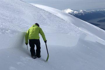 avalanche fracture line profile
