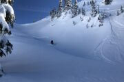Sweet first tracks in the Mount Seymour backcountry